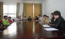 各班生活委员参加学校食堂工作会议